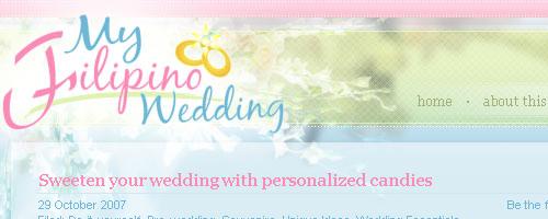 my filipino wedding