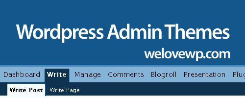 Wordpress admin themes