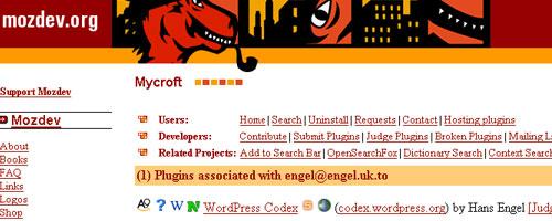 search wordpress codex