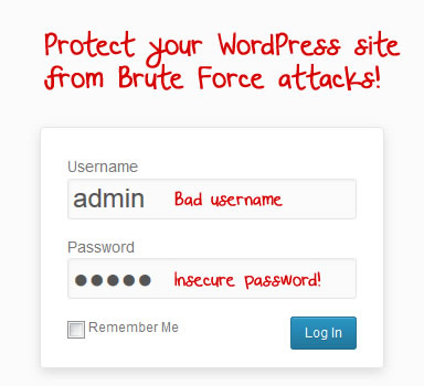 wordpress brute force attack protection