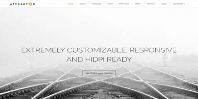 attractor responsive one page parallax theme