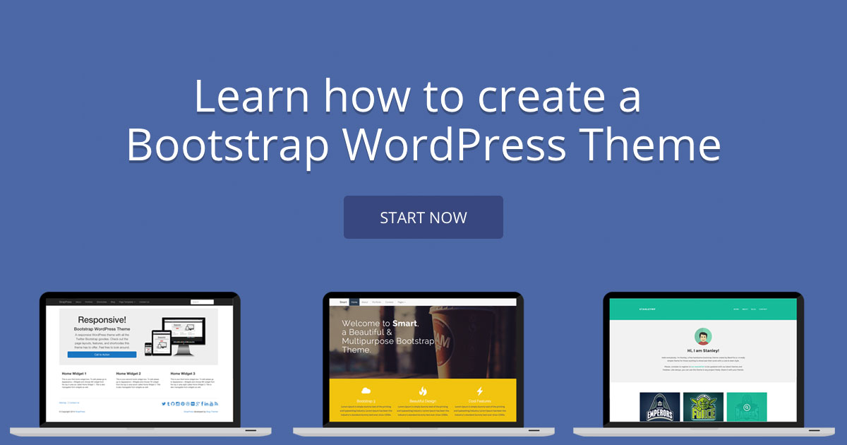 creating a wordpress theme with bootstrap wanderlust web design