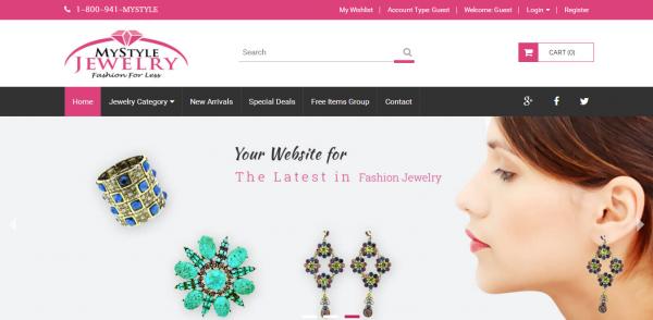 Online Jewelry Store MyStyle Jewelry