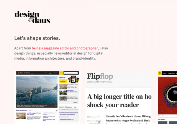 Design by Daus – News design and information architecture
