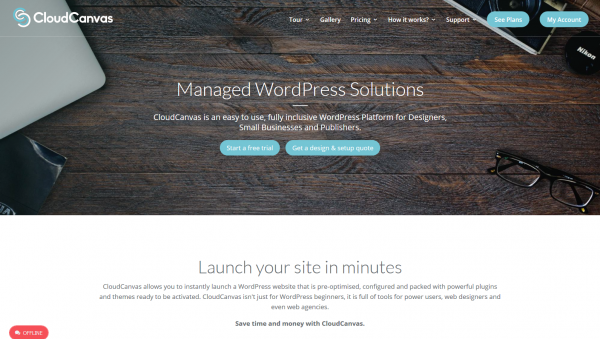 CloudCanvas Managed WordPress Solutions Instantly Launch WP now