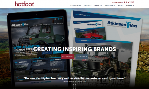 Specialist Web Design and Brand Agency in Lancaster Lancashire Hotfoot Design