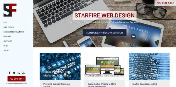 Starfire Web Design Las Vegas website