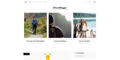 SiliconBlogger Clean WordPress theme for personal blog