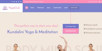 yoga club premium wordpress theme1