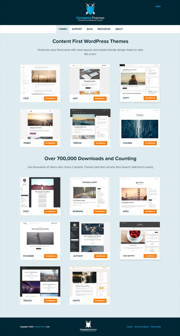 Content First WordPress Themes by Compete Themes