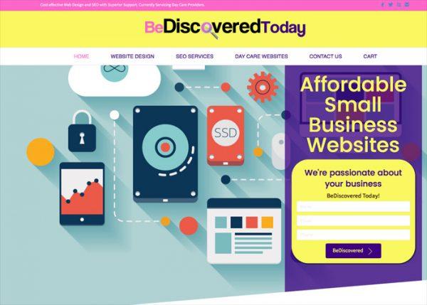 bediscoveredtoday website design