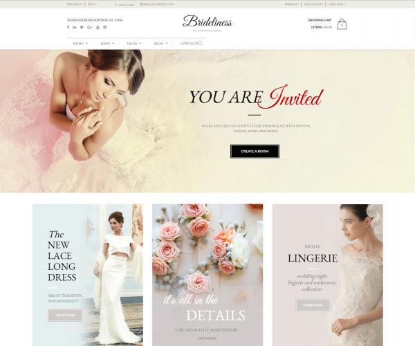 Brideliness – Wedding WordPress Theme - Wanderlust Web Design ...