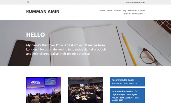 Rumman Amin Certified Scrum Manager Digital Project Manager from London