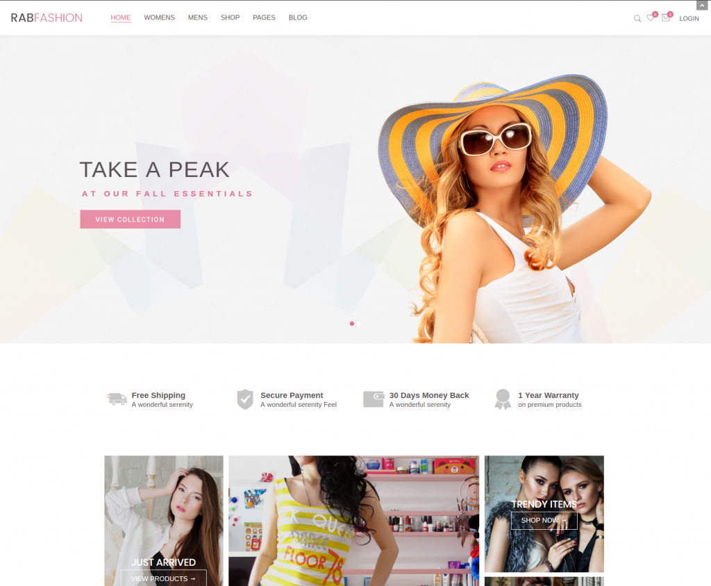 Rab Fashion Ecommerce Wordpress Theme Entertainment Wordpress Website Design