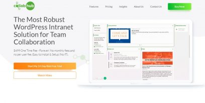 Collab Hub front page