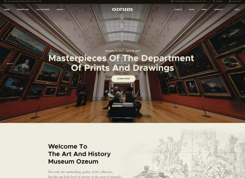 Ozeum Art Gallery and Museum WordPress Theme min