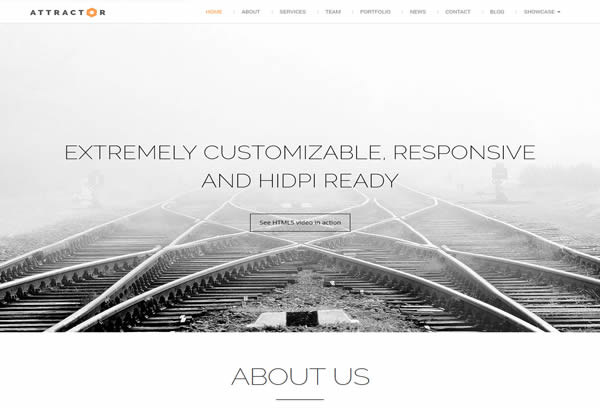 Attractor - Responsive One Page Parallax Theme