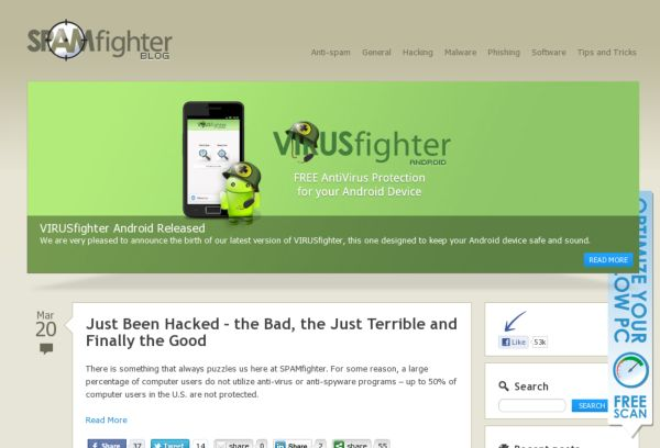 SPAMfighter Corporate blog