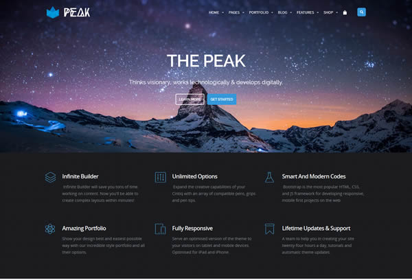 Peak Royal MultiPurpose Retina WordPress Theme