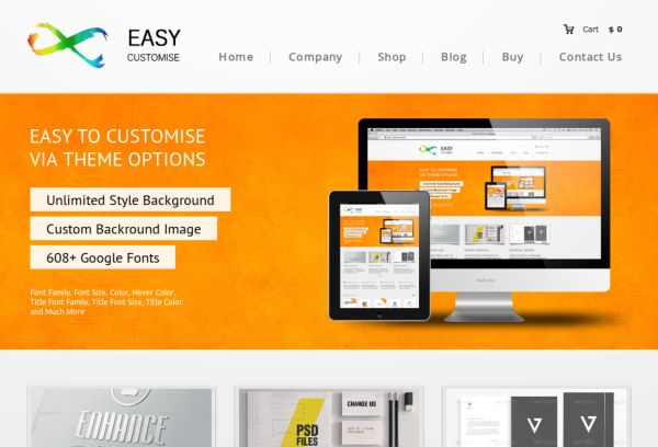 EasyCustomise - Multi-Purpose WordPress Theme