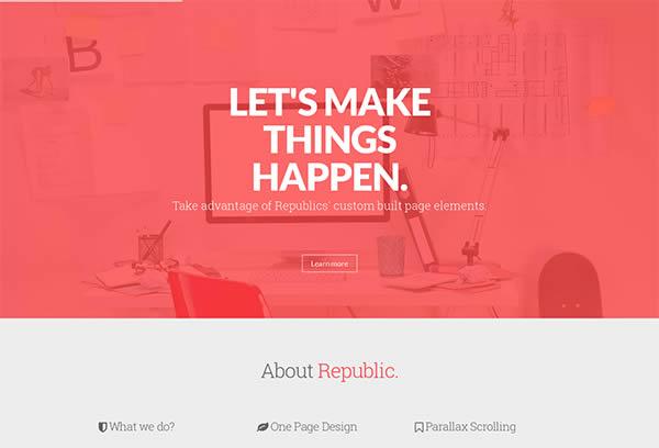Republic - Creative One Page Multi-Purpose Theme