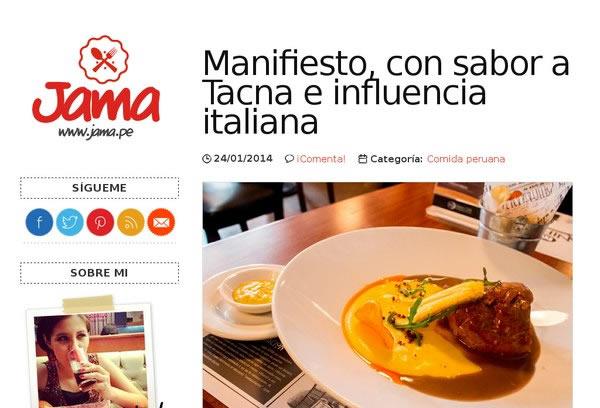 Jama - Foodie Blog
