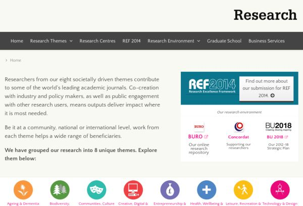 Research at Bournemouth University