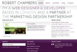 Robert Chambers - Portfolio and Blog