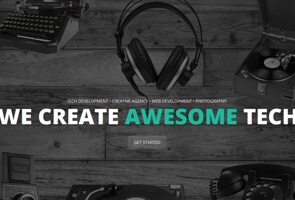 Hipstech - One Page Multi Layer Parallax Theme