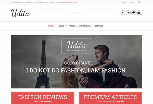 Udita - A Blog & Portfolio WordPress Theme