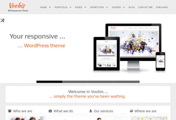 Voobis - WordPress theme.