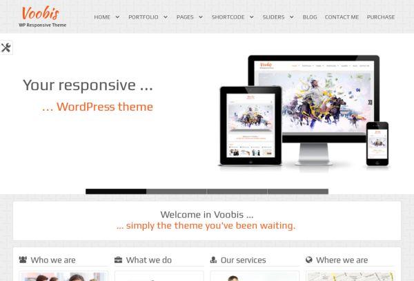 Voobis - WordPress theme.