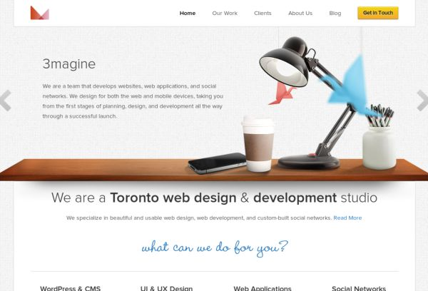Toronto web design - 3magine Inc.