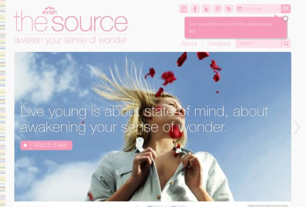 evian the source