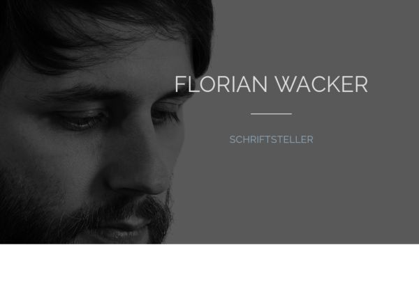 Der Autor Florian Wacker