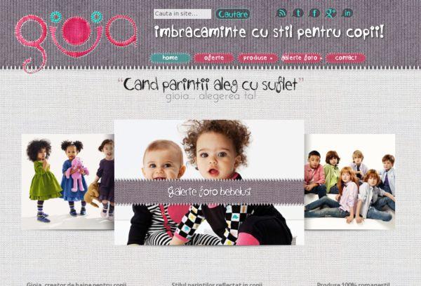 Gioia - Imbracaminte cu stil pentru copii
