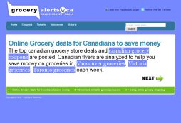 Grocery Alerts Canada