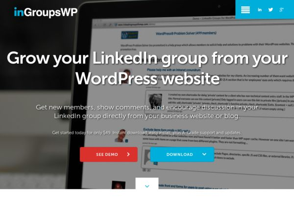 LinedIn Groups for WordPress Plugin
