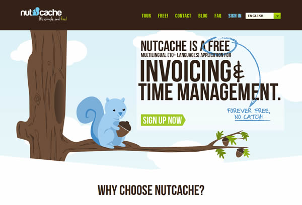 Nutcache free online invoicing & time management