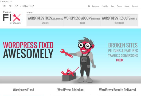 PleaseFixMySite can help you with anything WordPress.