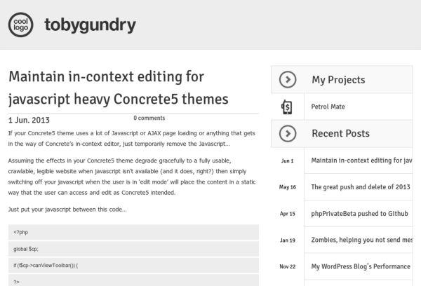 Toby Gundrys Blog